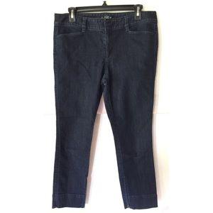 Ann Taylor Loft Women Modern Crop Jeans Size 8
